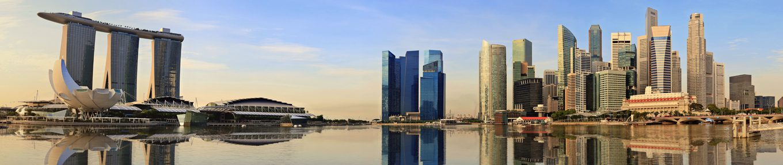 Singapore panorama skyline in the morning